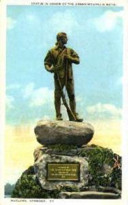 Green Mountain Boys Statue