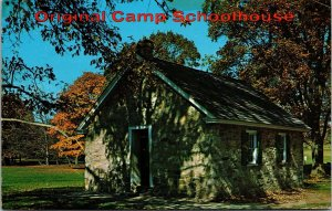 Postcard PA Pennsylvania Valley Forge Old Original Camp School House Posted 1970