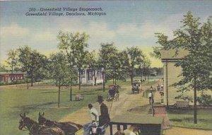 Michigan Dearborn Greenfield Village Stagecoach Greenfield Village