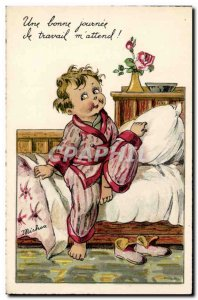 Old Postcard Fantasy Illustrator Child Michou