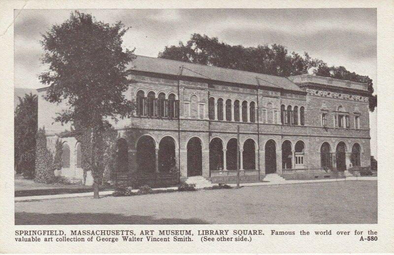 SPRINGFIELD , Massachusetts , 1900-10s ; Art Museum