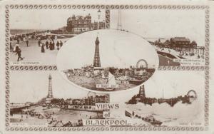 RP; BLACKPOOL, England, UK, 1920; 5-views, LIGHTHOUSE