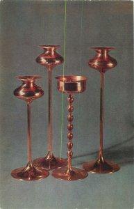 Estonia Talinn Art Museum forged copper Candlesticks Postcard