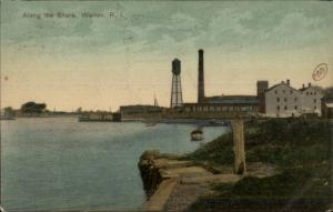 Warren RI Along the Shore c1910 Postcard