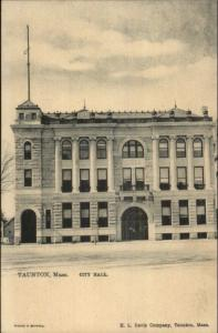 Taunton MA City Hall TUCK #1074 c1905 Postcard