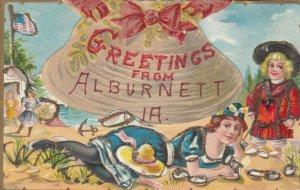 ALBURNETT , Iowa , 1900-10s ; Clam Shell Greetings