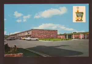 MORRISTOWN TENNESSEE HOLIDAY INN MOTEL 1960's CARS ADVERTISING POSTCARD