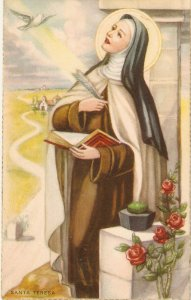 Santa Teresa Nice Spanish ReligiousPostcard 19340s