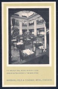Marshall Field Store & Interiors (3 cards) unused c1930's