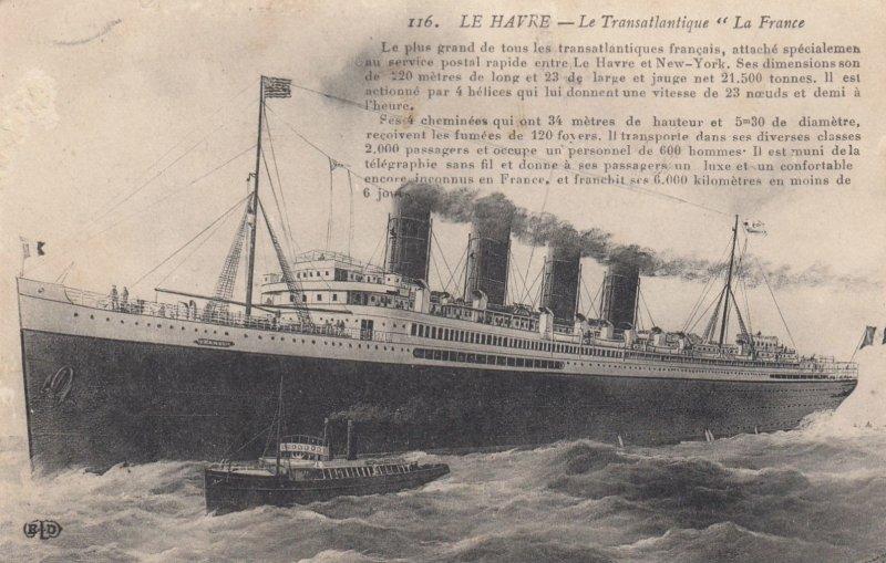 LE HARVE , France , 00-10s ; Ocean Liner La France