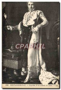Old Postcard Fontainebleau Napoleon 1st in Coronation Robes