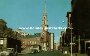 Boston, Mass., Park Street, Church, Cars (1950s)