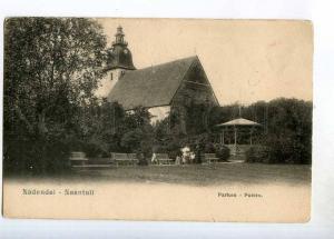 247521 FINLAND NAANTALI park & church Vintage postcard