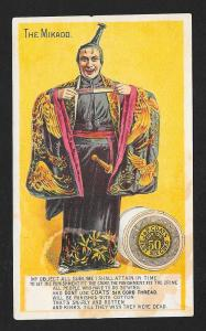 VICTORIAN TRADE CARD Coat's Thread The Mikado
