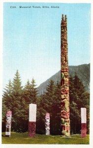 Alaska Sitka Memorial Indian Totem Poles