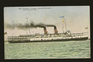 Steamer Cayuga Between Toronto & Niagara Falls Color Postcard Unposted