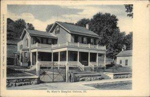 Galena IL St. Mary's Hospital 1906 Used Postcard