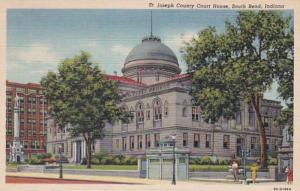 Indiana South Bend St Joseph County Court House 1948 Curteich