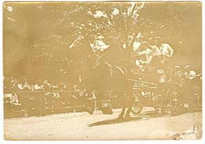 RP, Parade For State Firemen, Anderson Fire Department Horse-Wagon Racing, An...