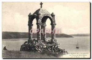 Old Postcard The Banks of the Rance The Virgin of Saint Suliac on the Rance