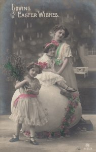 RP: Loving EASTER Wishes, 00-10s; Family portrait, Flower decorated giant egg