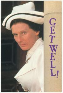 Cloris Leachman as Nurse Diesel in High Anxiety Movie Get Well Postcard