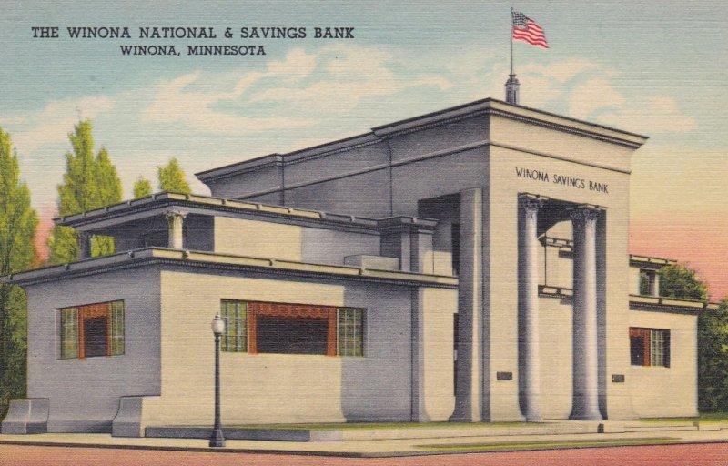 WINONA, Minnesota, 1930-40s; The Winona National & Savings Bank