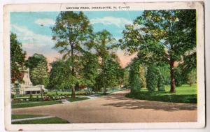 Meyers Park, Charlotte NC