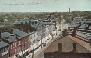 COBOURG , Ontario , 1910 ; King STreet Looking East