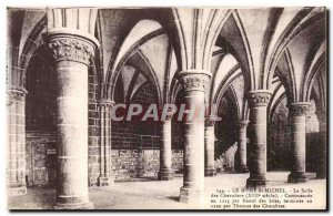 Le Mont Saint Michel - The Knights' Hall - Old Postcard
