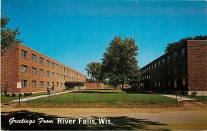 River Falls~Wisconsin State College~Men's Dorms~Stratton & Prucha Halls~1960s PC
