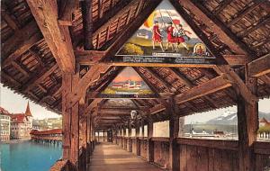 Switzerland Postcard Luzern Kapellbrucke