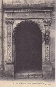 Hotel d'Alluye, Detail d'Une Porte, Blois (Loir et Cher), France, 1900-1910s