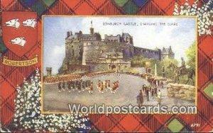 Changing the Guard Edinburgh Castle Scotland, Escocia 1950 Missing Stamp