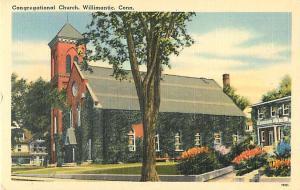 Congregational Church Willimantic Connecticut CT Linen