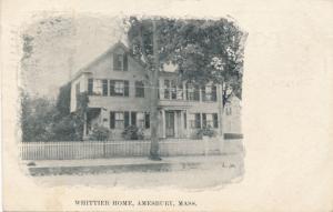 Whittier Home - Amesbury MA, Massachusetts - pm 1910 - DB