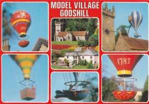 Godshill Model Village Hot Air Balloon Isle Of Wight Postcard