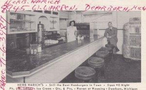 DEARBORN , Michigan , 1930-40s ; Herb Harich's, Best Hamburgers in town