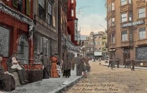 Boston~Hotel Rome~Giadarno Meat Market~ITALIAN District BANK~Ferullo Co 1911