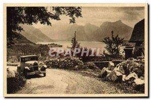 Old Postcard Lake Annecy and Haute Savoie View from the Road to Annecy Talloi...