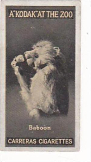 Carreras Cigarette Card Kodak At Zoo 1st Series No 26 Basoon
