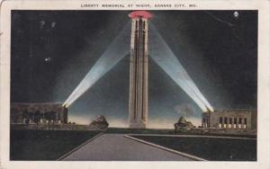 Missouri Kansas City Liberty Memorial At Night 1931