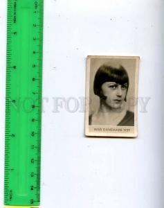 188465 Miss DENMARK 1929 year Vintage photo CIGARETTE card