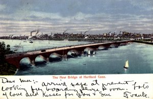 Hartford, Connecticut - The New Bridge - in 1906