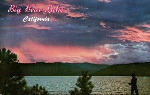 California Big Bear Lake Fishing At Sunset