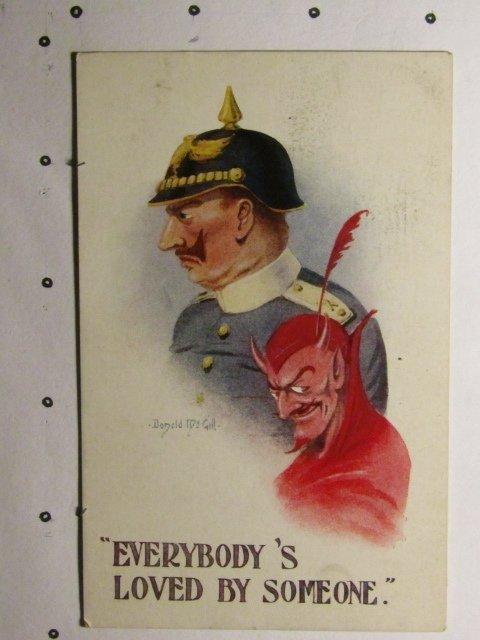 WW1-Donald McGill-Satan-The Kaiser