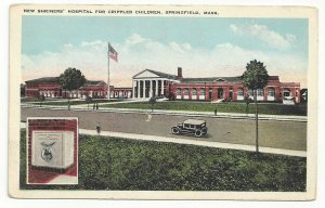 SPRINGFIELD, Massachusetts, 1900-10s; New Shriners' Hospital, Crippled Children