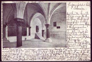Israel Palestine Jerusalem 1903 b/w Postcard Le Cenacle Interieur Levant