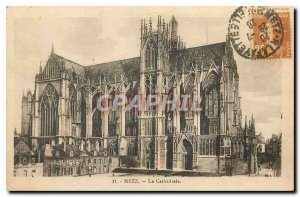 Old Postcard Metz Cathedral