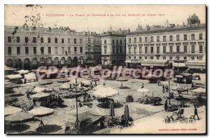Postcard Old Toulouse La Place Du Capitole A Pin Du Marche
